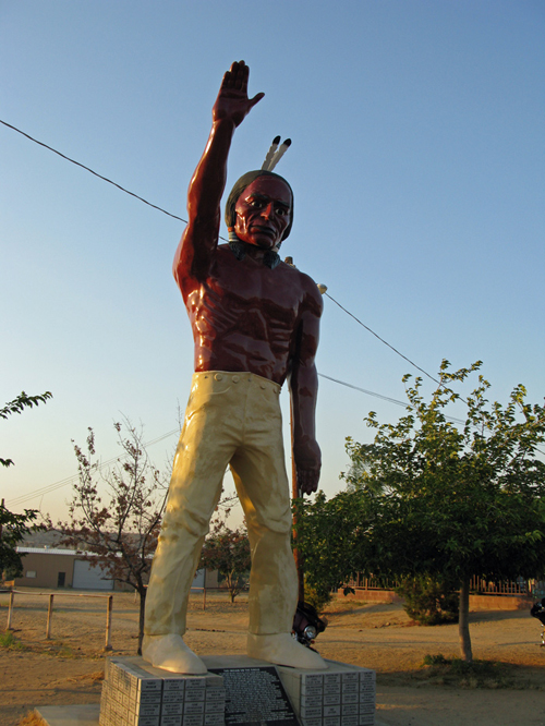 Bakersfield California Muffler Man Indian