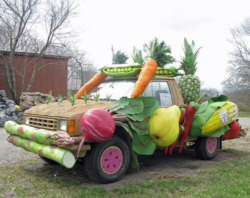 Fruit and Vegetable Art Car spotted on Long Island