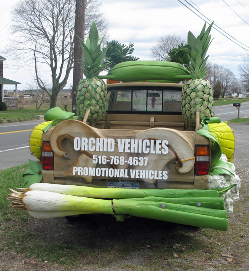 Fruit and Vegetable Car spotted on Long Island
